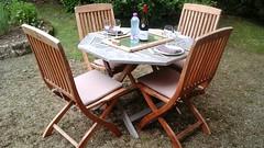 La vie potique - Lunchtime - Home - Plouhinec - Finistre - June 2016 (jeanyvesriou1) Tags: home lunchtime extrieur djeuner