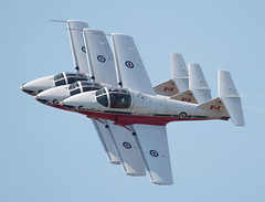 QIAS 2016 - Precision Pass (Jay:Dee) Tags: 2016 qias quinte international air show airshow cfb canadian forces base trenton aviation aircraft airplane military jet trainer snowbirds 431 demonstration squadron aerobatics ct114 canadair tutor