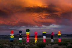 Nevada - Seven Magic Mountains (Yen Baet) Tags: select lasvegas nevada nv usa us america sevenmagicmountains 7magicmountains limestone boulder towers colorful ugorondinone yenbaet