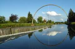 With this perfect ring, on its river of satin, i do ask thee, will thou marry me... (in explore 2016/07/01) (chriskatsie) Tags: sculpture cloud water river circle dream ring nuage reve anneau cercle