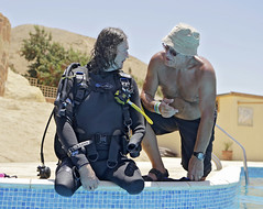 Craig Wood and Richard Cullen (KnyazevDA) Tags: sea underwater wheelchair scuba diving disabled diver padi undersea handicapped amputee disability