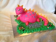 Happy 4th Birthday Gabby! (ladybugdiscovery) Tags: pink yellow cake purple dinosaur sweet chocolate