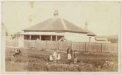 Family and sandstone house, West Maitland (?), ca. 1881-1884 (maitland.city library) Tags: maitland newsouthwales state library family children sandstone house home wiepel conrad joseph west