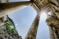 Look Ma, No Tourists! (Greg - AdventuresofaGoodMan.com) Tags: building architecture turkey greek ancient roman library ruin sunburst turkish selcuk ephesus efes libraryofcelsus turkishruins selcuc