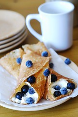 Crepes with ricotta cheese and blueberries (JuliasAlbum.com) Tags: pancakes breakfast dessert berry blueberry ricotta crepes