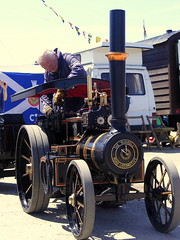 The Small 'Burrell' Traction Engine (Hythe Eye) Tags: small steam tractionengine burrell oceanterminal southamptonwater southamptonmaritimefestival dock46