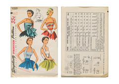Simplicity-4320-Bombshell-Tops (kittymeow84) Tags: vintage pattern fifties dress top sewing skirt retro blouse 1940s 1950s custom forties garment kittysdrawings