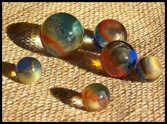 Cosmic Rainbow Marbles (Dusty_73) Tags: marbles marble glass collection vitro agate vitroagate cosmic rainbow toy shooter vintage parkersburg wv west virginia american made childhood past time