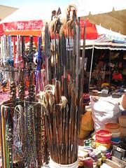Maasai Market, Lance e scudi tribali (www.kenyanonsolosafari.com) Tags: drums souvenirs market kenya centre nairobi craft tribal safari masks jewlery tribe maasai batik kikuyu kikoy localcrafts stone market village local kitenge kenya soap artigianatolocale westgate masai maasai blankets nairobi yaya