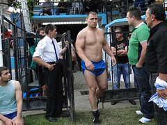 He is ready to win... (d.mavro) Tags: shirtless sexy sport fighter body wrestling traditional sensual arena greece strong bulgarian serres grecoroman pehlivan gre athlet restling nigrita  pahlavan pehlwan