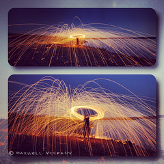 (xxMaxwellxx) Tags: longexposure nightphotography lightpainting lightgraffiti steelwool