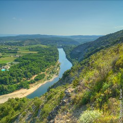 Looking towards Vallon from Sampzon (Jeaunse23) Tags: france ardeche sampzon