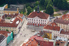 Town Hall Square of Tartu (tarmo888) Tags: people architecture colorful europe estonia sony aerialview medieval oldtown eesti tartu estland vanalinn raekoda photoimage sooc sonyalpha welcometoestonia tartumaa visitestonia sonyα geosetter geotaggedphoto nex7 sel18200 фотоfoto positivelysurprising year2013