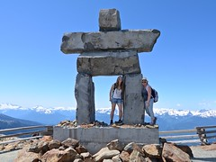 Inukshuk (Whistler Whatever) Tags: summer mountain selfportrait canada whistler symbol walk peak sunny hike firstnations inukshuk blackcomb viewfromabove tokinaatx116prodxaf1116mmf28