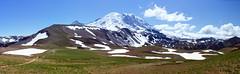 Seattle: Mount Rainier (Falcdragon) Tags: seattle panorama usa mountain walking volcano hiking sony mountrainier rainier hugin interestingness301 i500 photoninja nex5