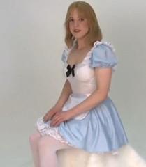 Alice in Wonderland (shellyanatine) Tags: pink dress crossdressing sissy petticoat frilly
