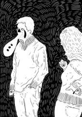 Des gens que vous connaissez (Tchangodei) Tags: people woman white man black illustration digital during noir you know femme bored que dessin des oeil deux both bubble draw tablet et bd blanc genre homme gens larmes bulle contemplation nitya dashes vous traits graphique blas tablette connaissez tchangodei atter