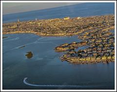 S h o r t F l i g h t (Chris Robinson Photography) Tags: ocean vacation water island inflight newjersey aircraft aviation airplanes flightplan oceancitynewjersey canon60d millvillenewjersey canon18135
