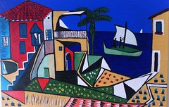 South of France by Neil Gaffney (Neil Gaffney) Tags: france art painting landscape nice mediterranean acrylic south neil picasso wigan gaffney mediterraneanlandscape