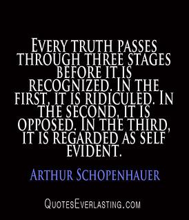 //www.flickr.com/photos/87310047@N05/9517799105/: Arthur Schopenhauer - Every truth passes through three stage