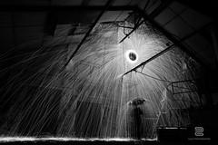 Hot Rain (S.D.G Photographie) Tags: longexposure light urban lightpainting france abandoned night dark fire lights paint lumière creative creation sombre concept conceptual sparkler sparks exploration flamme nuit français feu sdg