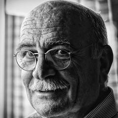 Christos (big andrei) Tags: leica portrait bw man look m8 brave mustashe 75mm20