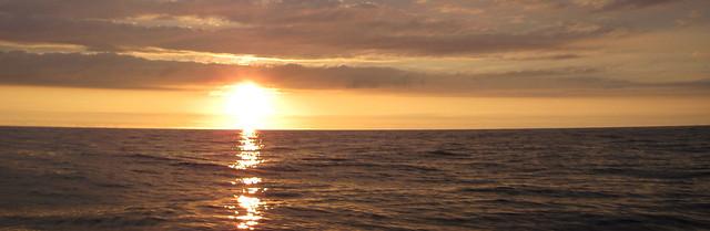 Couché de soleil sur l'océan 2 Widescreen