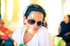 Vibrant (DavioTheOne) Tags: portrait woman sunglasses smiling fashion female happy faces bokeh fashionphotography style getty earrings gettyimages