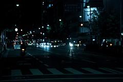 (tenpadego) Tags: light car japan night kyoto downtown         shijou