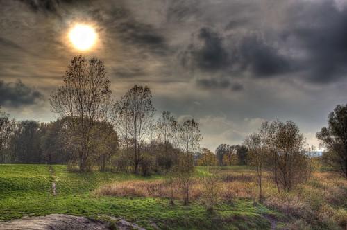 Werre Meadow November sky