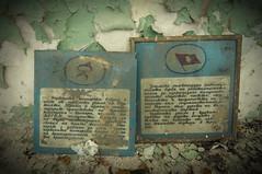 Abandoned School... (Nicolaiona) Tags: school windows horse abandoned stairs decay gas communism explore masks bulgaria gym desks abacus classrooms urbex corridors