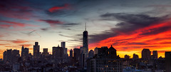 11.14.13 Sunset, Lower Manhattan, NYC (James and Karla Murray Photography) Tags: newyorkcity sunset newyork photography manhattan gothamist lowermanhattan freedomtower jamesandkarlamurray 1worldtrade jamesandkarlamurraycom mugflickrpool vision:sunset=0848 vision:mountain=0546 vision:outdoor=0904 vision:sky=0936 vision:clouds=088