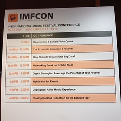 "Today's #imfcon schedule • <a style=""font-size:0.8em;"" href=""http://www.flickr.com/photos/8453258@N02/11309165106/"" target=""_blank"">View on Flickr</a>"