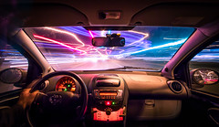 Psychedelic Drive..... (80D-Ray) Tags: longexposure trafficlights car driving aygo