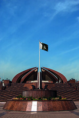 Pakistan Monument (Azarbhaijaan) Tags: blue pakistan building monument landscape flag architect pakistani islamabad baghdadi pakistaniphotographer pentaxk10d azharmunir drpanga