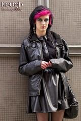 IMG_9501 (Neil Keogh Photography) Tags: black girl fence lace skirt panels gothgirl leatherjacket modeljessika