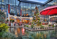 The Rivercenter Mall and Lagoon, San Antonio Texas (PhotosToArtByMike) Tags: sanantonio downtown texas shoppingmall riverwalk sanantoniotexas rivercenter rivercentermall sanantonioriverwalk paseodelrio rivercenterlagoon