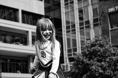 Pure Joy (Ry Meehan) Tags: california portrait blackandwhite bw sports abbey architecture nikon sandiego baseball padres petcopark fanday d7000 18105mmf3556gvr