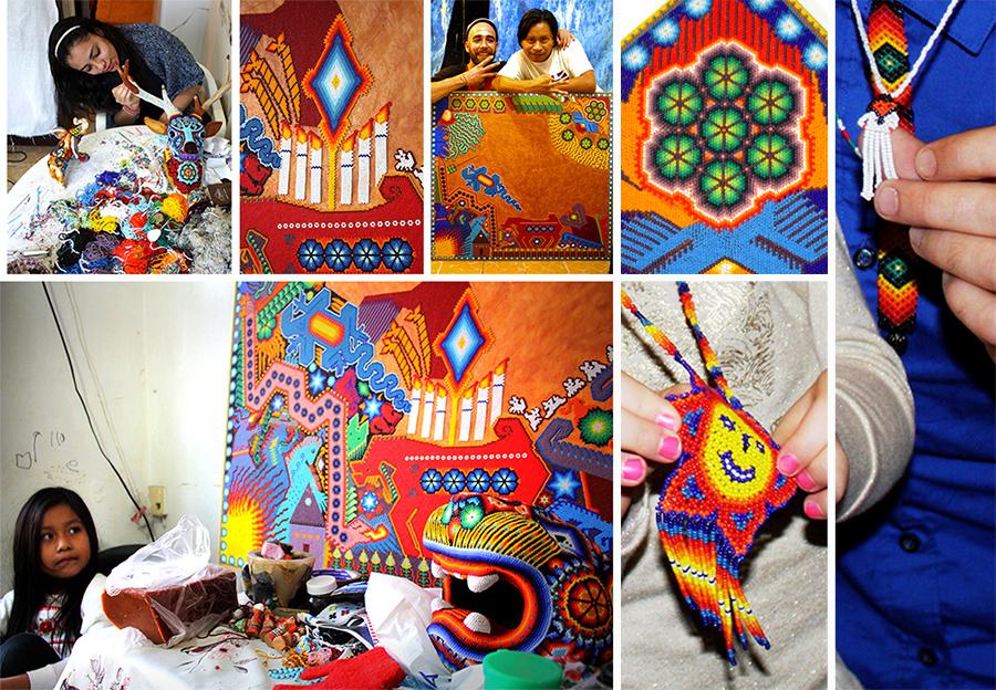 Guada, su familia y su Arte. Huichol Culture.