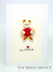 TEDDYvalentine (ofthingspretty) Tags: bear red cute love boyfriend paper cards for girlfriend day heart teddy handmade anniversary husband valentine card wife valentines etsy proposal greeting filigree quilling quilled ofthingspretty