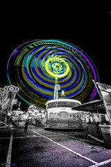 """Ferris Wheel """"Schueberfouer"""" (HL--Photography) Tags: bw white black colors wheel night observation lights nikon colorful long exposure ferris ferriswheel luxembourg riesenrad schueberfouer fouer d7100"""