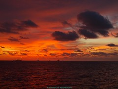 Oil field sunset in Angola (Gwenol de KERMENGUY) Tags: de marin artiste gwenole kermenguy