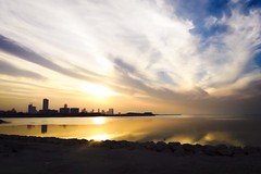 Seef skyline (Tariq Al-Gosaibi) Tags: sunset skyline bay bahrain running racing 5k manama brr seef bahrainbay uploaded:by=flickrmobile flickriosapp:filter=nofilter bahrainrunning
