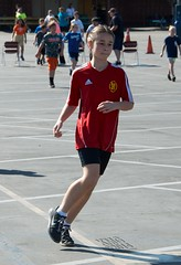 Red Runner (Kevin MG) Tags: northridge usa losangeles outdoors fun jogathon girls young little cute running preteen red nikond7000 nikon d7000 kb athlete athletes athletic california child kids kid children