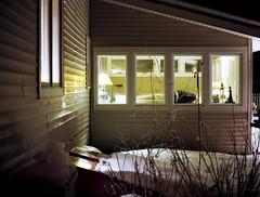 A Back Porch at Night (Patrick J. McCormack) Tags: house 120 mamiya film night burlington mediumformat back 645 vermont suburban voyeur porch ambient suburb