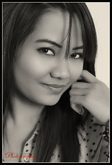 classic face portrait (yvind Bjerkholt (Thanks for 29 million+ views)) Tags: portrait bw woman sexy girl beautiful smile face norway female canon asian eos norge blackwhite sensual portrett arendal 600d cs6
