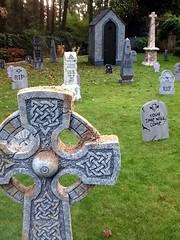 Graveyard 01 (hadley78) Tags: halloween grave graveyard stone project tomb tombstone mausoleum foam gag styrofoam crypt prop