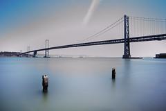 Bay Bridge, long exposure (Jason JH) Tags: sanfrancisco longexposure bridge sunlight bay tripod daytime 1740mm nd8 canon6d