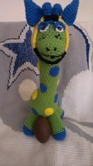 KristenLucia, meet Champ (The Crochet Crowd) Tags: mikey giraffe redheart crochettoy mysteryadventure freeamigurumipattern mysterycrochetalong thecrochetcrowd michaelsellick freeonlinetutorial thecrochetcrowdcrochetalong freegiraffecrochetpattern freecrochetvideo