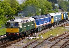 Swanage Convoy (David Blandford photography) Tags: sulzer totton 33012 73207 50031 brcw 50026 71alocomotivegroup